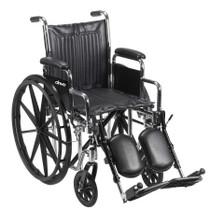 "Chrome Sport Wheelchair, Fixed Full Arms, Swing away Footrests, 16"" Seat (CS16FA-SF)"