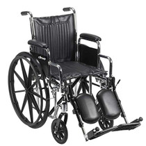"Chrome Sport Wheelchair, Detachable Full Arms, Swing away Footrests, 18"" Seat (CS18DFA-SF)"