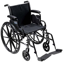 "Drive K316DFA-SF Cruiser III Light Weight Wheelchair with Flip Back Removable Arms, Full Arms, Swing away Footrests, 16"" Seat (K316DFA-SF)"