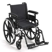 "Viper Plus GT Wheelchair with Flip Back Removable Adjustable Full Arms, Swing away Footrests, 18"" Seat (PLA418FBFAARAD-SF)"