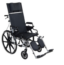"Drive PLA418RBDDA Viper Plus GT Full Reclining Wheelchair, Detachable Desk Arms, 18"" Seat (PLA418RBDDA)"