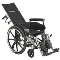"Drive PLA418RBDFA Viper Plus GT Full Reclining Wheelchair, Detachable Full Arms, 18"" Seat (PLA418RBDFA)"