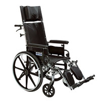 "Drive PLA420RBDDA Viper Plus GT Full Reclining Wheelchair, Detachable Desk Arms, 20"" Seat (PLA420RBDDA)"