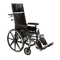 "Drive PLA420RBDFA Viper Plus GT Full Reclining Wheelchair, Detachable Full Arms, 20"" Seat"