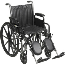"""Silver Sport 2 Wheelchair, Detachable Full Arms, Swing away Footrests, 20"""" Seat (SSP220DFA-SF)"""