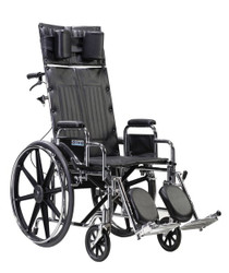 "Drive STD14RBDDA Sentra Reclining Wheelchair, Detachable Desk Arms, 14"" Seat"