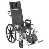 "Drive Medical STD16RBADDA Sentra Reclining Wheelchair, Detachable and Adjustable Height Desk Arms, 16"" Seat"