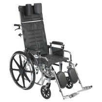 "Drive STD18RBADDA Sentra Reclining Wheelchair, Detachable Adjustable Height Desk Arms, 18"" Seat (STD18RBADDA)"
