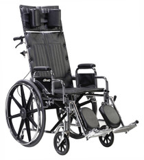 "Drive STD20RBADFA Sentra Reclining Wheelchair, Detachable Adjustable Height Full Arms, 20"" Seat (STD20RBADFA)"