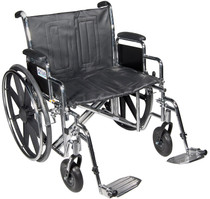 "Drive STD20ECDDAHD-SF Sentra EC Heavy Duty Wheelchair, Detachable Desk Arms, Swing away Footrests, 20"" Seat (STD20ECDDAHD-SF)"