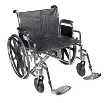 "Drive STD26ECDDA-SF Sentra EC Heavy Duty Extra Wide Wheelchair, Detachable Desk Arms, Swing away Footrests, 26"" Seat"