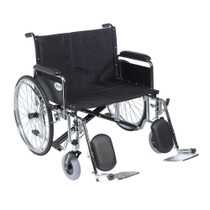 "Drive STD26ECDFA-ELR Sentra EC Heavy Duty Extra Wide Wheelchair, Detachable Full Arms, Elevating Leg Rests, 26"" Seat"