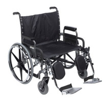 "Drive STD28DDA-SF Deluxe Sentra Heavy Duty Extra Extra Wide Wheelchair with Detachable Desk Arm Swing Away Footrests, 28"" Seat"