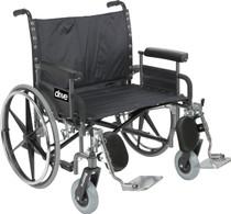 "Drive STD28DFA Sentra Extra Wide Heavy Duty Wheelchair, Detachable Full Arms, 28"" Seat"
