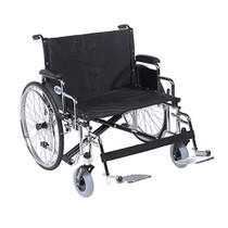 "Drive STD28ECDDA-SF Sentra EC Heavy Duty Extra Wide Wheelchair, Detachable Desk Arms, Swing away Footrests, 28"" Seat (STD28ECDDA-SF)"