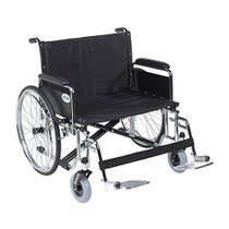 "Drive STD28ECDFA-SF Sentra EC Heavy Duty Extra Wide Wheelchair, Detachable Full Arms, Swing away Footrests, 28"" Seat (STD28ECDFA-SF)"