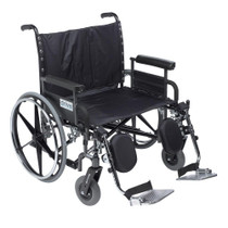 "Drive STD30DFA-ELR Deluxe Sentra Heavy Duty Extra Wide Wheelchair, Detachable Full Arm,Elevating Leg Rests, 30"" Seat"