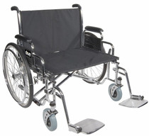 "Drive STD30ECDDA-ELR Sentra EC Heavy Duty Extra Wide Wheelchair, Detachable Desk Arms, Elevating Leg Rests, 30"" Seat (STD30ECDDA-ELR)"