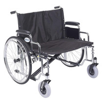 "Drive STD30ECDDA-SF Sentra EC Heavy Duty Extra Wide Wheelchair, Detachable Desk Arms, Swing away Footrests, 30"" Seat (STD30ECDDA-SF)"