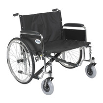"Drive Medical STD30ECDFA Sentra EC Heavy Duty Extra Wide Wheelchair, Detachable Full Arms, 30"" Seat"