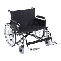 "Drive Medical STD30ECDFA-SF Sentra EC Heavy Duty Extra Wide Wheelchair, Detachable Full Arms, Swing away Footrests, 30"" Seat"
