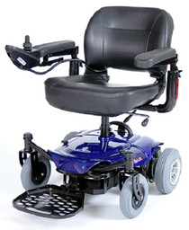 Drive Medical COBALTBL16FS Cobalt Travel Power Wheelchair, Blue