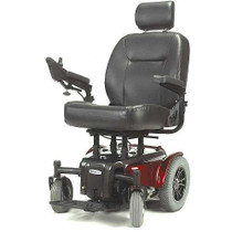 "Drive MEDALIST450RD24CS Medalist Heavy Duty Power Wheelchair, 24"" Seat, Red"