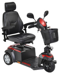 "Drive VENTURA320CS Ventura 3 DLX Power Mobility Scooter, 3 Wheel, 20"" Captains Seat"