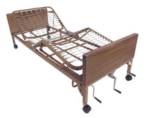 Drive 15003BV-FR Multi Height Manual Hospital Bed with Full Rails (15003BV-FR)