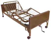 Drive 15004BV-PKG-1-T Semi Electric Bed with Half Rails and Therapeutic Support Mattress (15004BV-PKG-1-T)