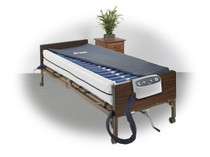"""Drive 14029DP Med Aire Plus Defined Perimeter Low Air Loss Mattress Replacement System, with Low pressure Alarm, 8"""""""