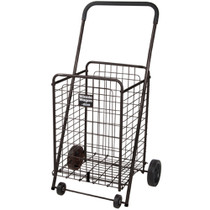 Drive 605B Winnie Wagon All Purpose Shopping Utility Cart, Black