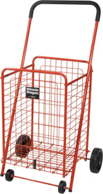 Drive 605R Winnie Wagon All Purpose Shopping Utility Cart, Red