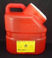 BD 300162 Collector SHARPS CHEMO 10.3L PA Red NATURAL PLUG TOP OFFSET (CS/12) (300162)
