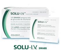 SOLU-I.V. 2% CHLORHEXIDINE GLUCONATE ALCOHOL FREE Large SWABS BX/100 (3M-10108)