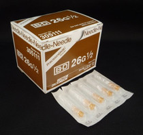 "BD 305111 PrecisionGlide Needle, 26G x 1/2"", Regular Bevel, Sterile, 100/BX (Case of 10)"