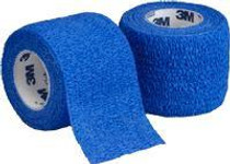"3M-1581B Coban Self-Adherent Wrap Blue 1"" x 5YD BX/30 (3M-1581B)"