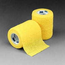 "3M 1583Y Coban Self-Adherent Wrap YELLOW 3""x 5 Yards BX/24 (3M-1583Y)"
