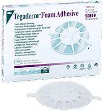"3M-90619 Tegaderm Foam Adhesive Dressing - 3"" Round Pad (elbow/heel design) 7.6cm x 7.6cm BX/5 (3M-90619)"
