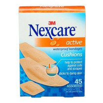 Nexcare Active Strips Bandages Assorted Sizes, Pack of 45