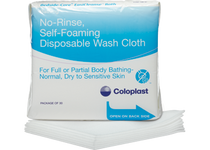 BEDSIDE CARE EASICLEANSE SELF FOAMING Disposable WASHCLOTH, LATEX FREE PK/5 (COL-7056)