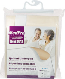 "MEDPRO 760-180 QUILTED UNDERPAD REUSABLE White SML MODERATE-HEAVY ABSORBENCY 24"" X 36"" (760-180)"