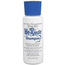 No Rinse Laboratories 00120 No Rinse Shampoo, 2oz