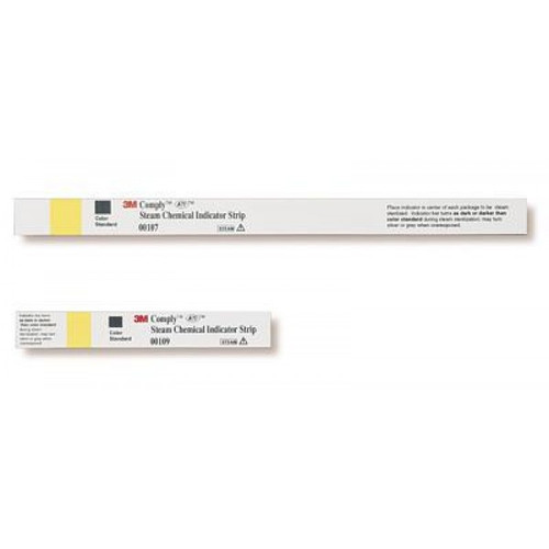 3M Comply Steam Chemical Indicator Strips 1.6CM x 10.8CM BX/250 STRIP (3M-00109A)