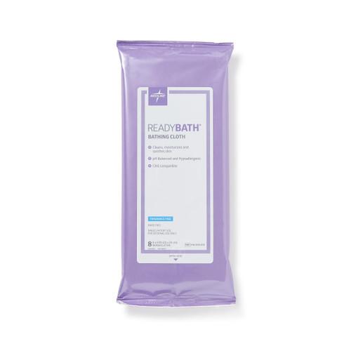 Medline MSC095305 ReadyBath Total Body Cleansing Standard Weight Washcloths READYBATH - FRAGRANCE FREE - 8/PK 30/CS