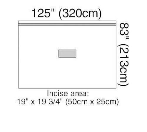 3M-1014 DRAPE PATIENT ISOLATION 320 X 213CM, BX/5