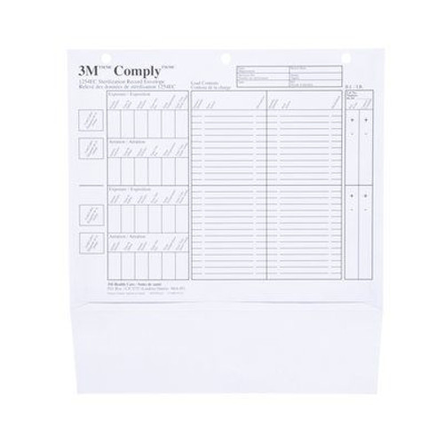 Steam IUSS Sterilization Record Envelopes Refill For 1254C PK/50