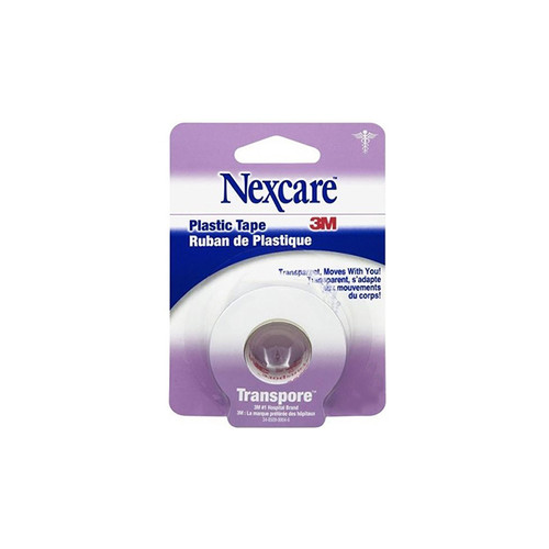 3M 771 Nexcare Transpore TAPE CARDED PLASTIC 25.4mm X 9.1mm, Case of 24