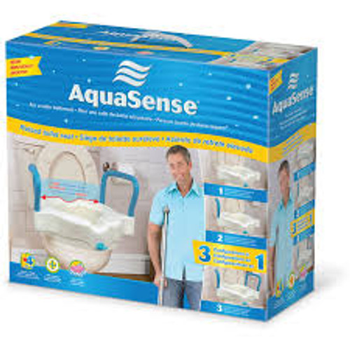 Swell Aquasense 770 618 3 N 1 Raised Toilet Seat Theyellowbook Wood Chair Design Ideas Theyellowbookinfo
