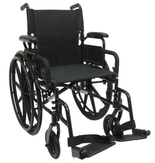 """18"""" Black Aluminum Wheelchair (2388)"""